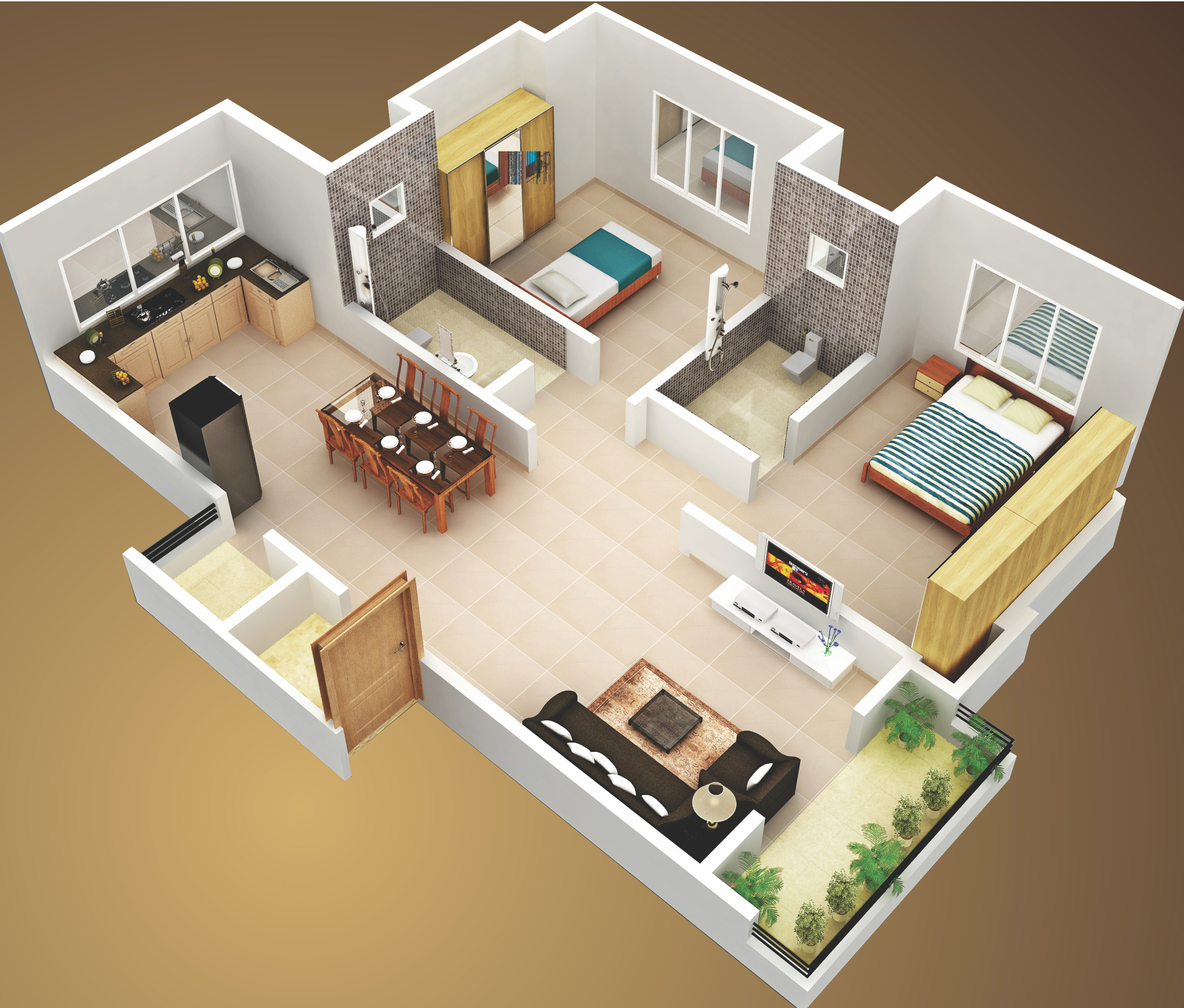 3d 1 Bedroom Apartment Floor Plans House  simsitynet